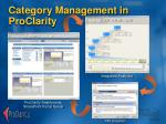category management in proclarity