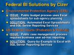 federal bi solutions by cizer