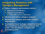 integrating analytics with category management