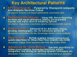 key architectural patterns