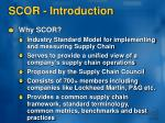 scor introduction