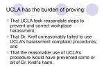 ucla has the burden of proving
