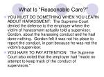 what is reasonable care