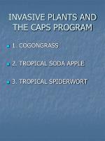 invasive plants and the caps program