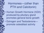 hormones other than pth and calcitonin