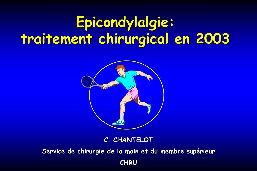 epicondylalgie traitement chirurgical en 2003 l.