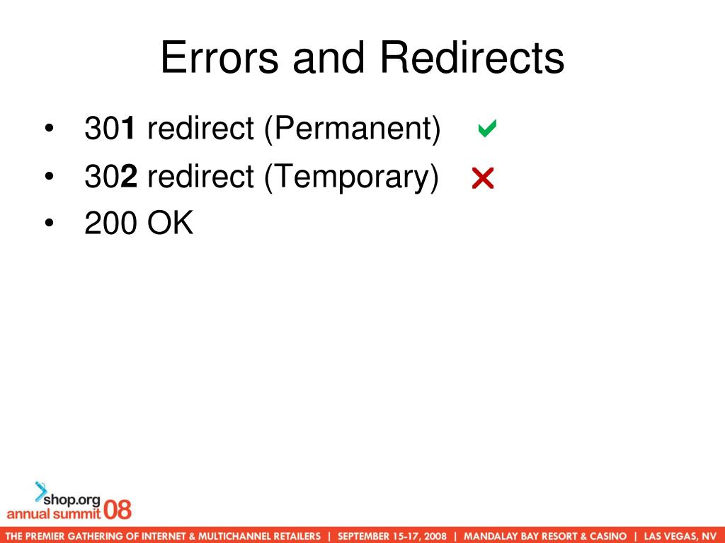 Errors and Redirects