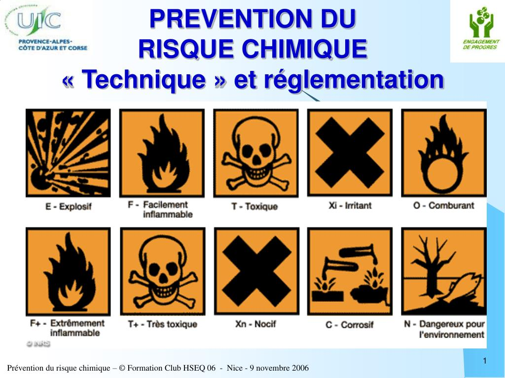 prevention du risque chimique technique et r glementation l.
