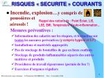 risques securite courants