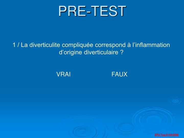 pre test n.