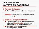 le cancer de la tete du pancreas28