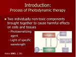 introduction process of photodynamic therapy