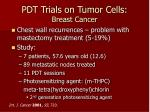 pdt trials on tumor cells breast cancer
