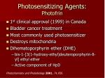 photosensitizing agents photofrin