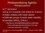 photosensitizing agents phthalocyanines
