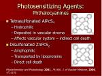 photosensitizing agents phthalocyanines28