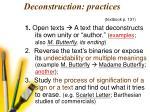 deconstruction practices