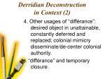 derridian deconstruction in context 2