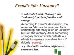 freud s the uncanny