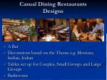 casual dining restaurants designs