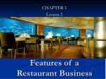 features of a restaurant business