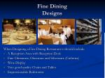 fine dining designs