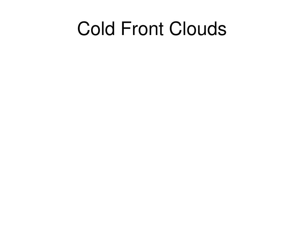 Cold Front Clouds