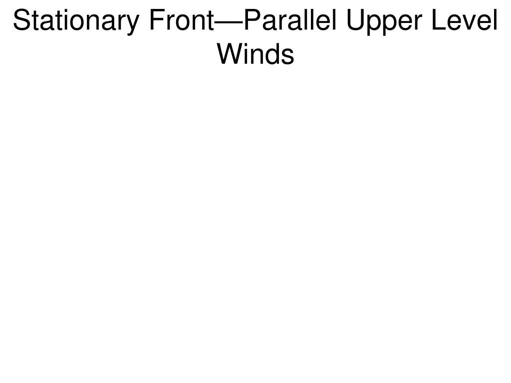 Stationary Front—Parallel Upper Level Winds