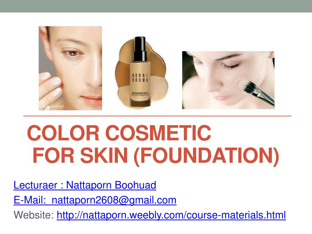 color cosmetic for skin foundation l.