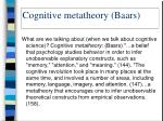 cognitive metatheory baars