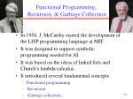 functional programming recursion garbage collection