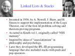 linked lists stacks