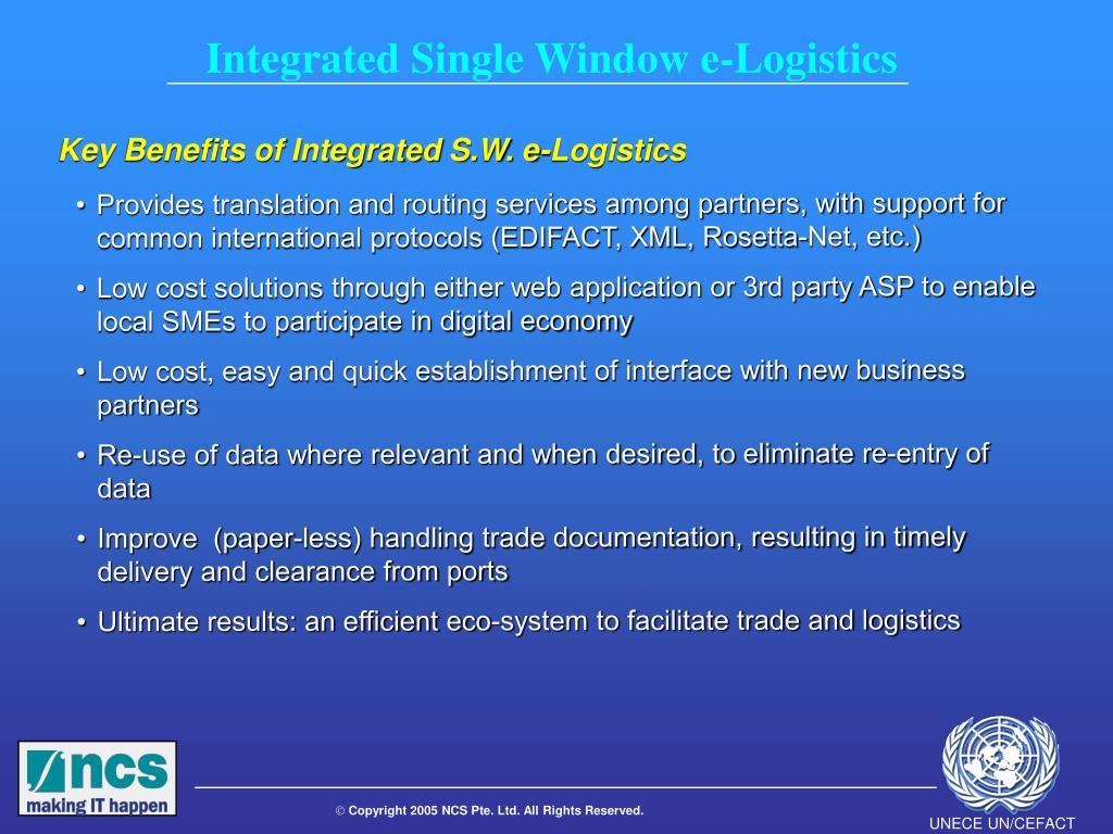 Integrated Single Window e-Logistics
