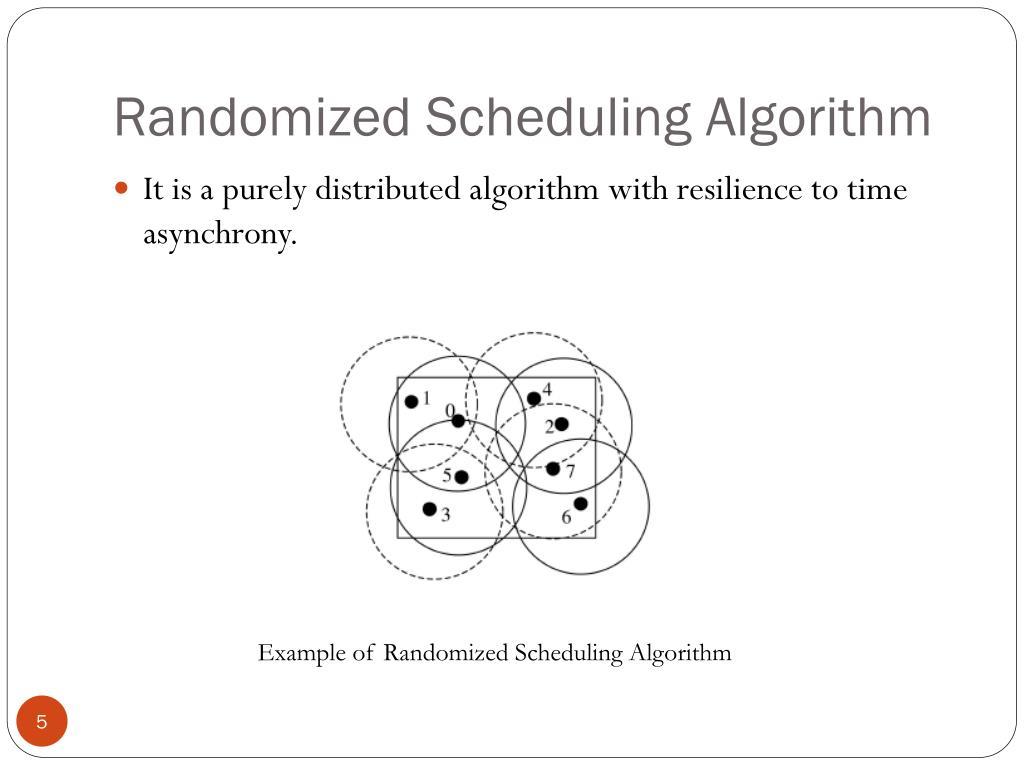 Randomized Scheduling Algorithm