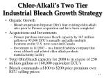 chlor alkali s two tier industrial bleach growth strategy