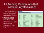 4 4 naming compounds that contain polyatomic ions