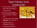 type ii binary ionic compounds