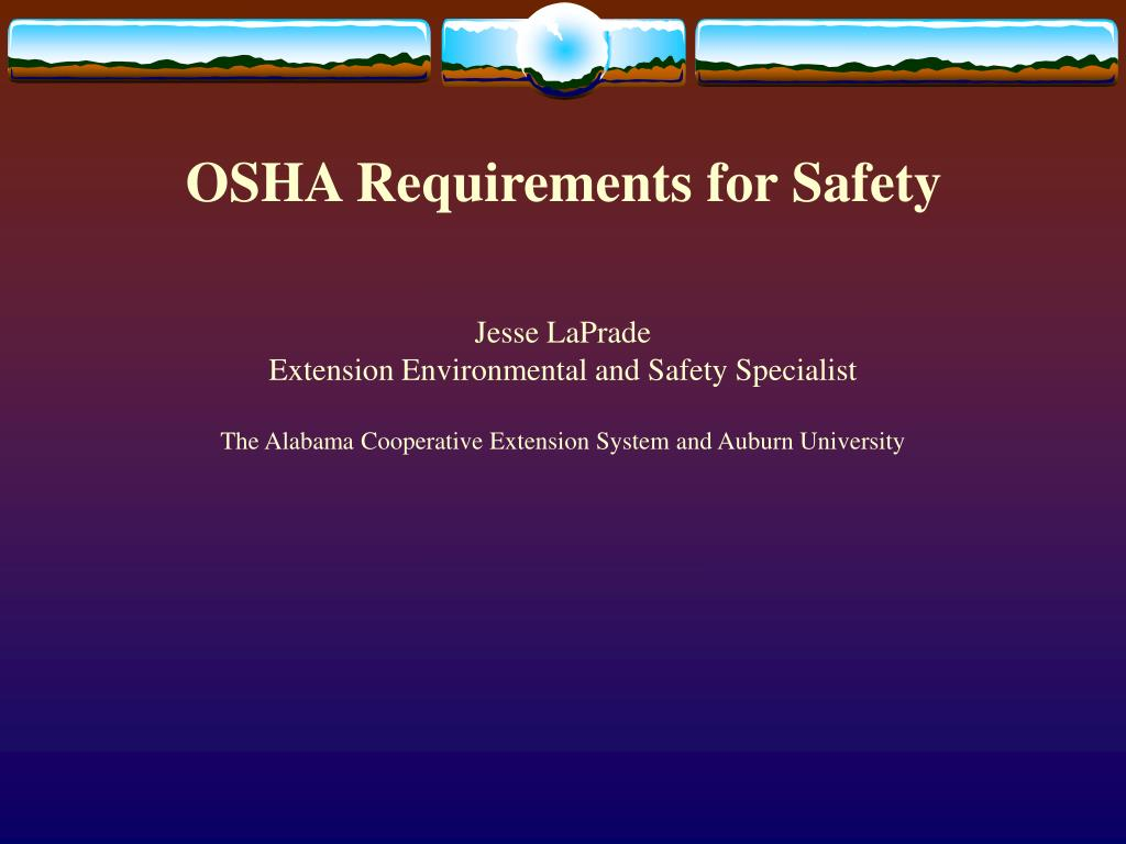 osha requirements for safety l.
