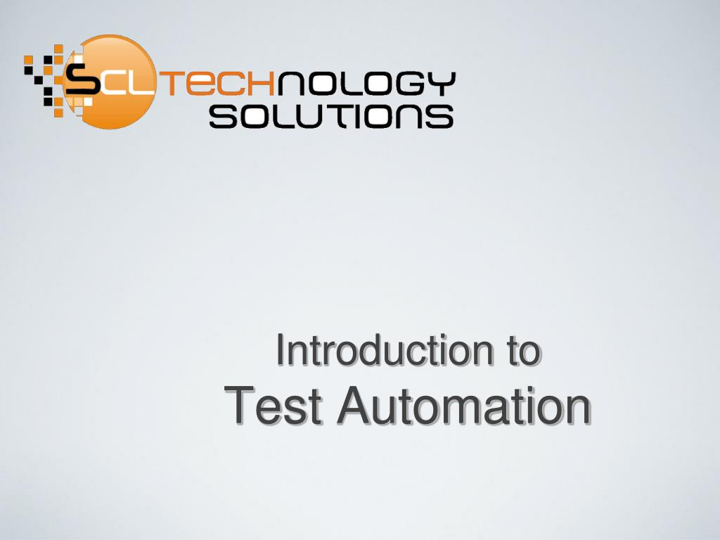introduction to test automation l.