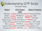 understanding qtp script windows apps