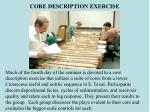core description exercise