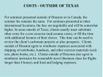 costs outside of texas