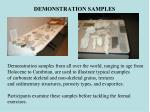 demonstration samples