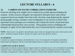 lecture syllabus 6