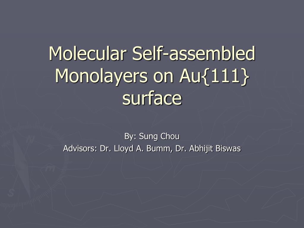 molecular self assembled monolayers on au 111 surface l.