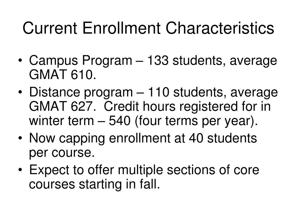 Current Enrollment Characteristics