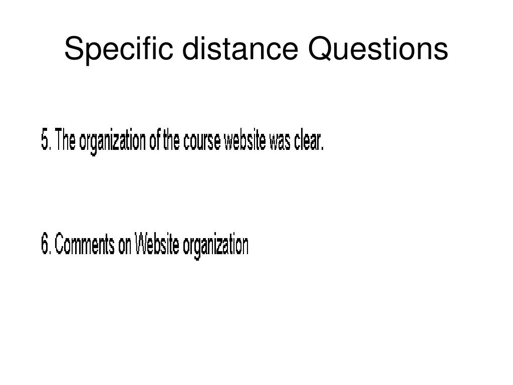 Specific distance Questions