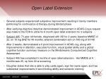 open label extension41