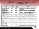 prx 03140 cognitive enhancement in preclinical models