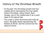 history of the christmas wreath